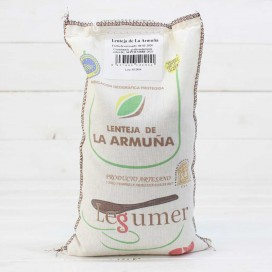 Cloth sack Lentils of the Armuña I. G. P 1kg