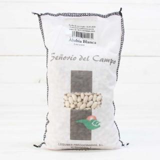 Stoff-sack Von Weißen Bohnen 1kg