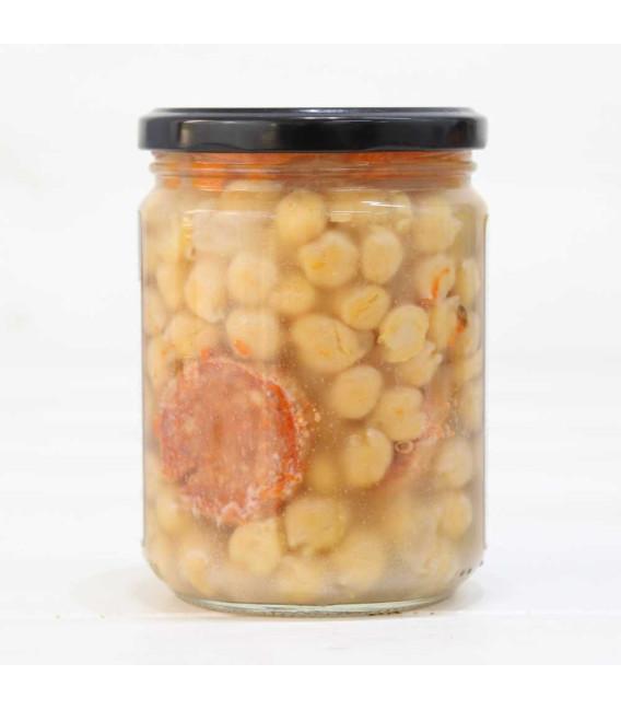 Jar of Cooked Spanish Garbanzo de Fuentesaúco I. G. P. 425 grs