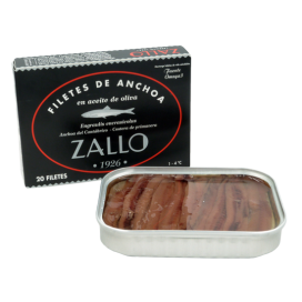 Cantabrian anchovies in Olive Oil selection of premium 20/22 fillets,85 g Zallo