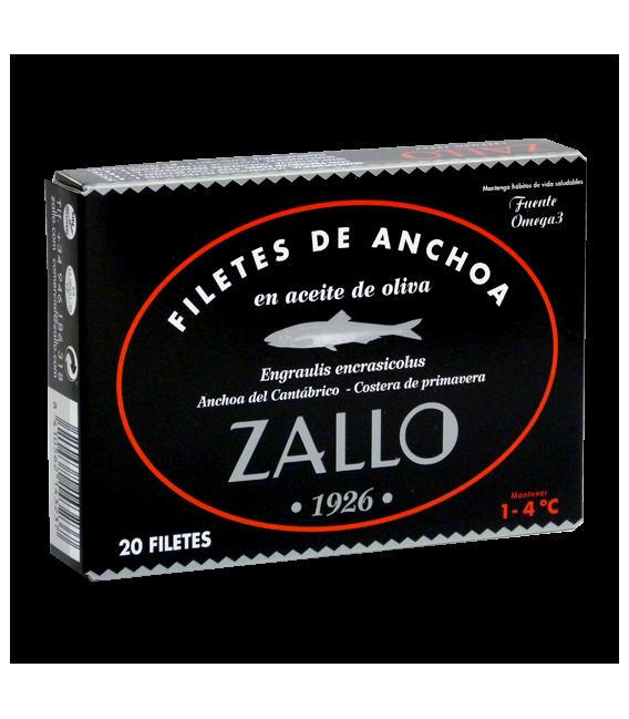 Kantabrischen sardellen in Olivenöl auswahl premium 12 steaks,85 grs Zallo
