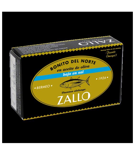 Bonito del Norte Costera en Aceite de Oliva, Bajo en Sal, 112 grs, Zallo