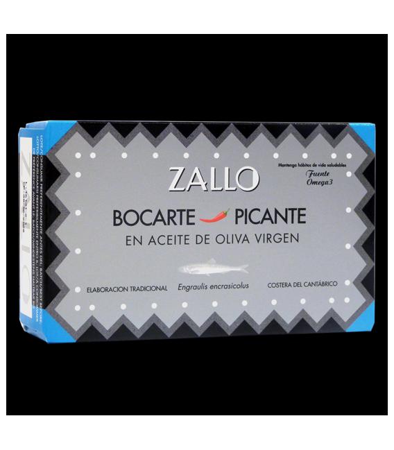 Bocarte Di Cardinale Picante en AOVE Virgen Extra, 120 grs, Zallo