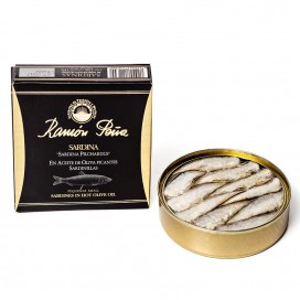 Sardines, Spicy, in Olive Oil 130 grams, Ramón Peña Gold