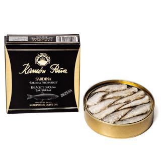 Sardines à l'Huile d'Olive 20/25 pièces,130 grs, Ramón Peña Or