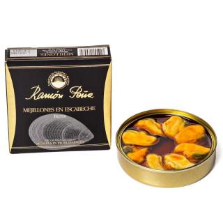 Cozze in Escabeche 6/8 pezzi 110 grs-Ramon Peña Oro