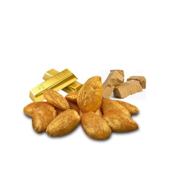 Glas - Nüsse, Mandeln Gold Deluxe 90 grs