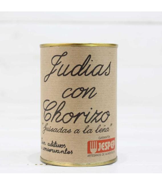 Judías con Chorizo Caseras, 425 grs.
