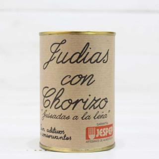 Fagiolini con Chorizo, fatto in casa, 425 g