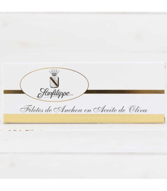 """A3- Anchoas Sanfilippo, en aceite """"tiras"""" grandes 12 filetes"""