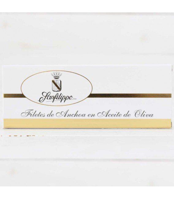 "A3 - Anchoas Sanfilippo, in oil ""strips"" large-12 fillets"