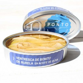 Ventresca of Bonito from Burela olive oil, 120 grams, Of Pontus