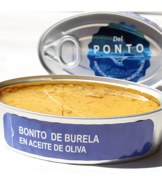 Bonito from Burela in olive oil, 120 grams, Of Pontus
