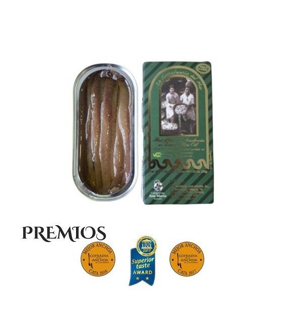 Pack di Risparmio 15 Lattine di Acciughe 50 grammi di Conservas Ana Maria