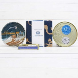 Pack Summer 3 cans Anchovies Premium 180 Grs and Gift 1 Tin of Anchovies 50 grams