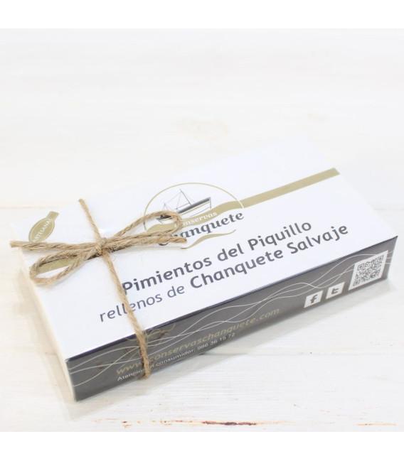 Paprika von der Piquillo-Füllungen von Chanquete wild in einer Soße von der Polizei