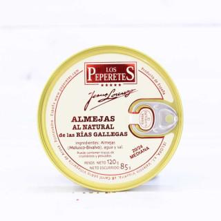 Almejas al Natural de las Rias Gallegas 20/24 piezas, 120 grs