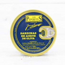 Sardines in Olive Oil, 5/7 pieces, 120 grams