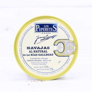 Navajas al Natural de las Rías Gallegas, 4/6 piezas, 120 grs