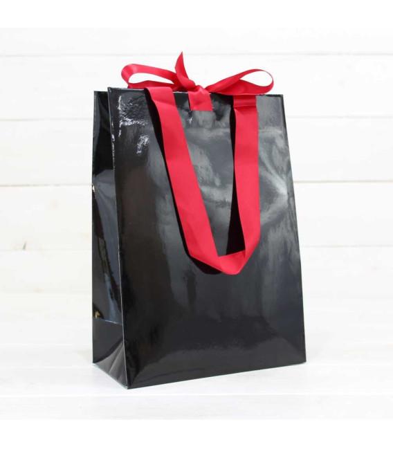 Bolsa Regalo Gourmet Negra con lazo nº10