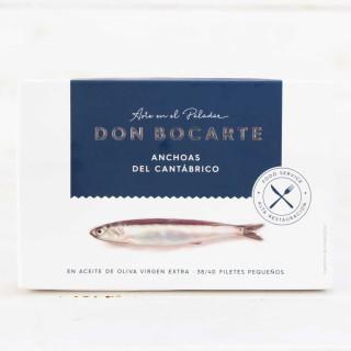 Anchoas de Santoña en AOVE 38-40 Filetes Pequeños, 198 grs Don Bocarte
