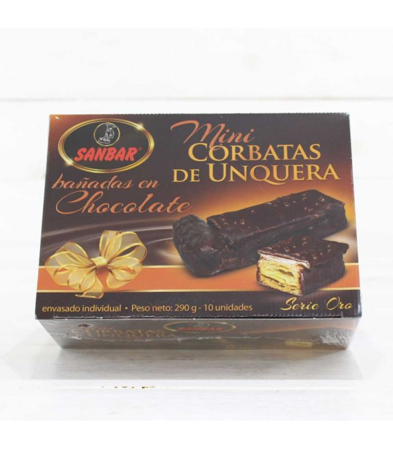 Mini Corbatas de Chocolate 10 unidades