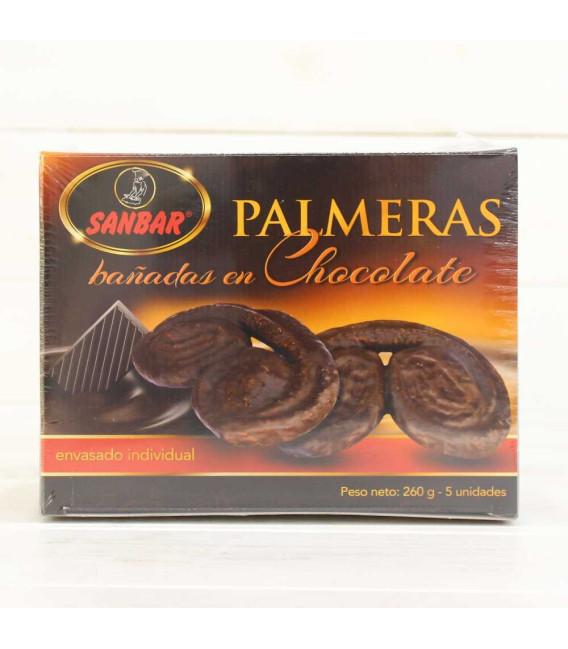 Palmeras de Hojaldre con Chocolate de Unquera, 5 unidades