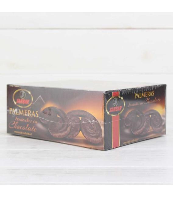 Palmeras de Hojaldre con Chocolate Sanbar, 5 unidades