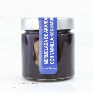 Mermelada de Arándano con Vainilla 100% natural, 240 grs