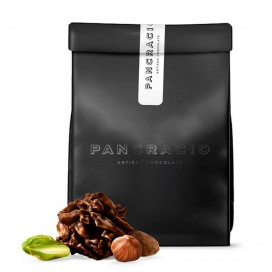 Swiss Rocks of Dark Chocolate, Almond, Hazelnut and Pistachio 140 grs