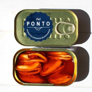 Mejillones en Escabeche 4/6 piezas grandes, 120 grs Del Ponto