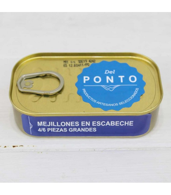 Mussels Marinated 4/6 pieces large, 120 grams Of Pontus