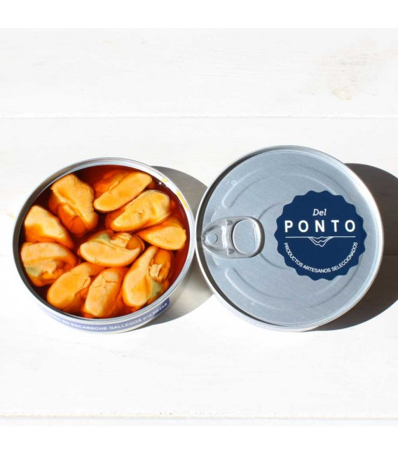Mussels from Galicia in Marinade 8/12 pieces 120 g Of Pontus