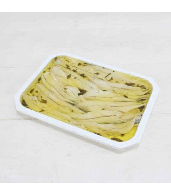 Anchovies from the Cantabrian sea with Garlic and Parsley in olive oil 140 g, Of Pontus