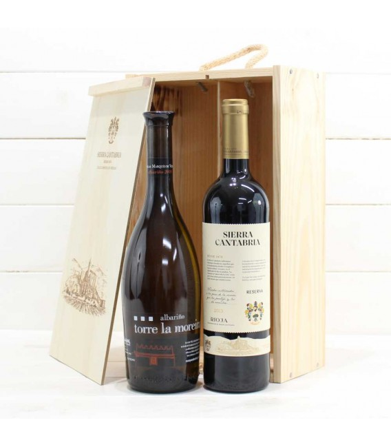 Estuche de Madera 2 Botellas de Vino nº3