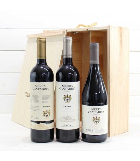 Estuche de Madera 3 Botellas de Vino nº5