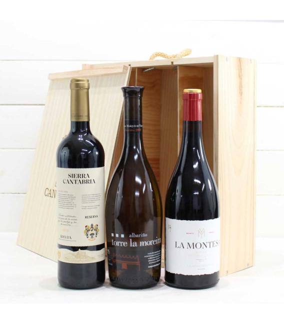 Estuche de Madera 3 Botellas de Vino nº7