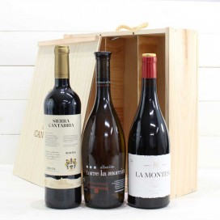 Holzkiste 3 Weinflaschen Nr. 7