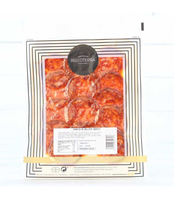 Sobre de Chorizo de Bellota 100% Ibérico, Estuche individual 80 grs,