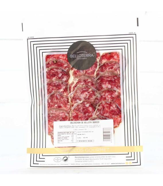 Saucisse de Bellota 100% Ibérique, en boîte individuelle de 80 grammes