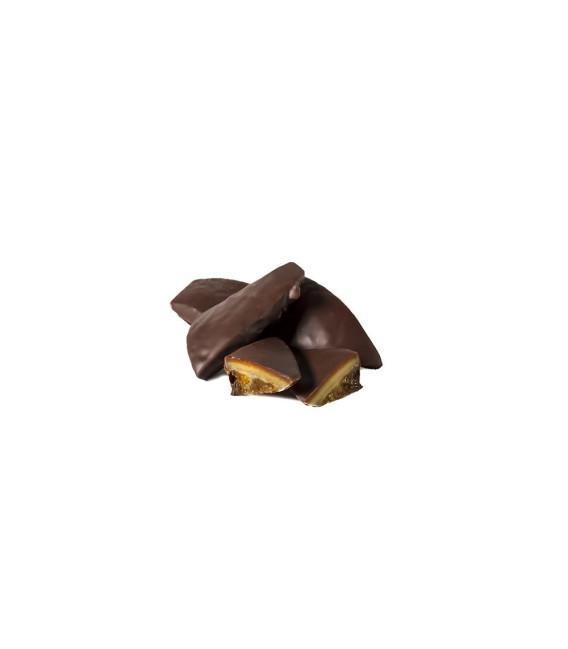 Naranjas bañadas en chocolate ,110 grs