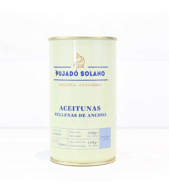Lata de Aceitunas Rellenas de Anchoa, 350 grs