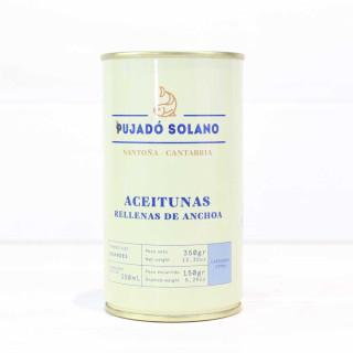 Lattina di olive ripiene di acciughe, 350 gr