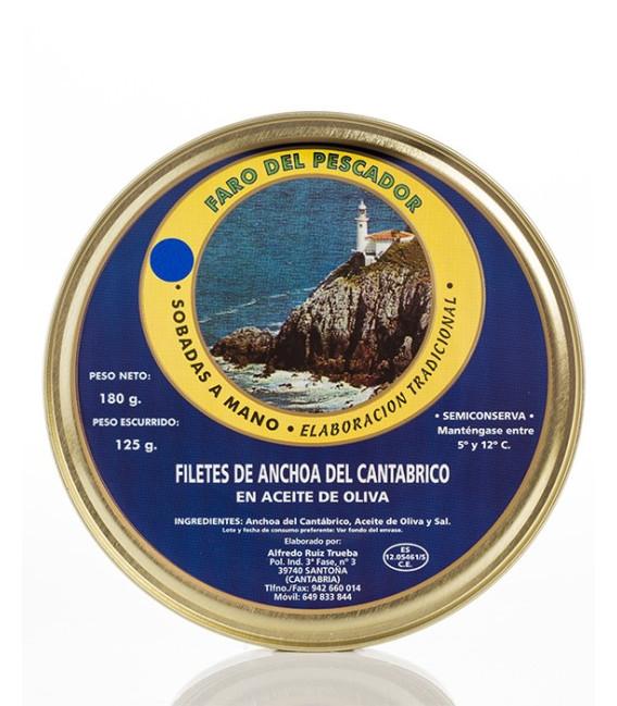 Anchoas de Santoña en Aceite de Oliva 180 Grs. El Faro del Pescador