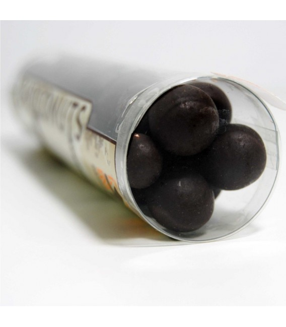 Hazelnuts dipped in pure chocolate 58%, 110 grams