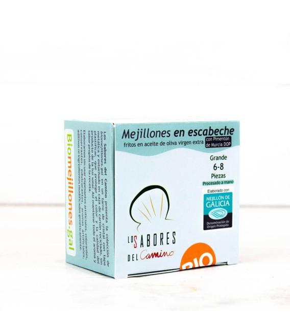 Mejillones Gallegos en Escabeche 6/8 piezas BIO, 110gr