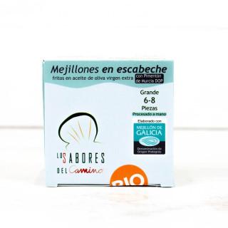 Mejillones Gallegos en Escabeche 6/8 piezas BIO, 110 gr