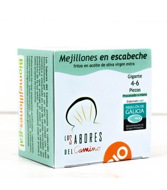 Mejillones Gallegos en Escabeche 4/6 piezas BIO, 110gr