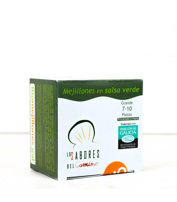 Mejillones Gallego en Salsa Verde 7/10 piezas BIO, 110 gr