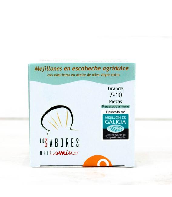 Mejillones Gallegos en Escabeche Agridulce 7/10 piezas BIO, 110 gr